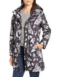 Joules - Right As Rain Longline Print Coat - Lyst