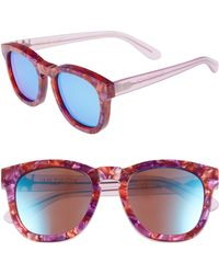 Wildfox - Classic Fox - Deluxe 59mm Sunglasses - Wildflower/blue Mirror - Lyst