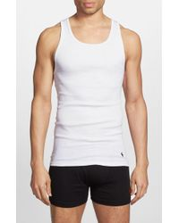 Polo Ralph Lauren - Classic 3-pack Ribbed Tank, White - Lyst