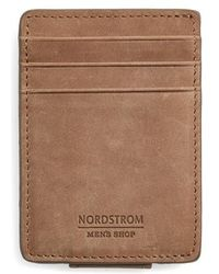 Nordstrom - Upton Leather Money Clip Card Case - Lyst