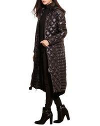 Lauren by Ralph Lauren | Packable Quilted Down Coat, Black | Lyst