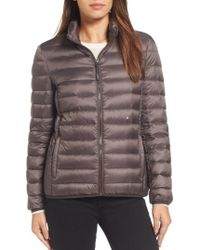Tumi - 'pax On The Go' Packable Quilted Jacket, Brown - Lyst