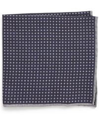 Eleventy - Dot Wool & Cotton Pocket Square - Lyst