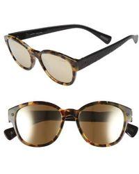 Lanvin - 50mm Retro Sunglasses - Light Havana - Lyst