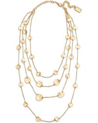 Karine Sultan - Manon Layered Necklace - Lyst