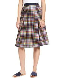 Nordstrom - 1901 Pleated Check Skirt - Lyst
