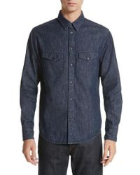 Rag & Bone | Beck Denim Shirt | Lyst