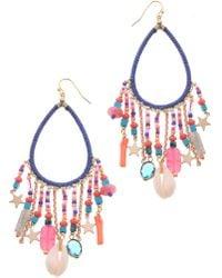 Nakamol - Stone & Star Charm Earrings - Lyst