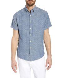 Grayers - Falling Apple Slub Twill Sport Shirt - Lyst