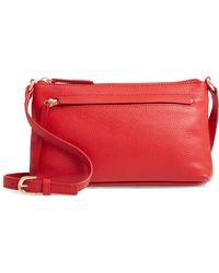 254d42dfd675 Lyst - Ferragamo Grained Leather Mya Crossbody Bag in Purple