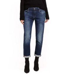 PAIGE - Brigitte Transcend Vintage High Waist Crop Boyfriend Jeans - Lyst
