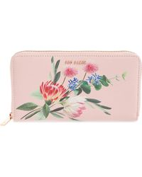 e9d343fb69a2bc Lyst - Ted Baker Wallet - Patent Crystal Frame Matinee Continental ...