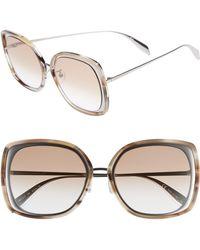Alexander McQueen - 57mm Square Sunglasses - - Lyst