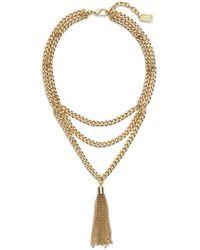 Karine Sultan - Layered Y-necklace - Lyst