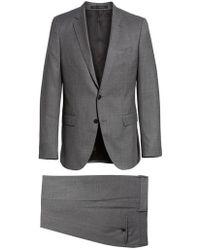BOSS - Novan/ben Trim Fit Solid Wool Suit - Lyst