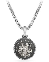 David Yurman - St. Christopher Diamond Amulet - Lyst