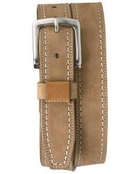 Trask - 'alpine' Nubuck Leather Belt - Lyst