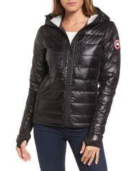 Canada Goose - 'hybridge Lite' Slim Fit Hooded Packable Down Jacket, (10-12) - Lyst