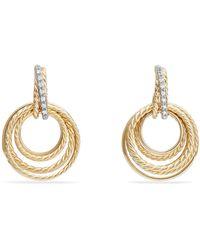 David Yurman - Crossover Diamond Drop Earrings - Lyst
