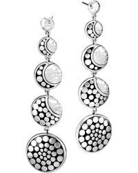 John Hardy - Dot Hammered Drop Earrings - Lyst