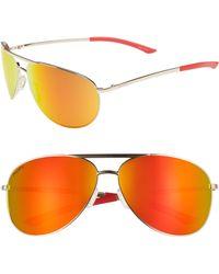 19c9153c27 Smith - Serpico 2 65mm Mirrored Chromapop(tm) Aviator Sunglasses - - Lyst
