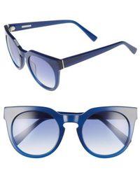Derek Lam - 'stella' 51mm Round Sunglasses - - Lyst