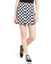 Tinsel - Checkered Denim Miniskirt - Lyst