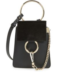 Chloé - Faye Small Suede & Leather Bracelet Bag - - Lyst