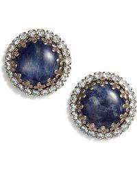 Sorrelli - Rhinestone Edge Stud Earrings - Lyst