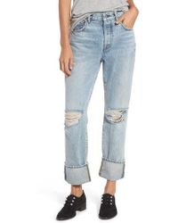 7 For All Mankind - 7 For All Mankind Rickie High Waist Boyfriend Jeans - Lyst