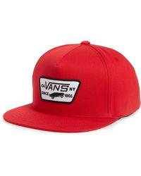 3c5d1bac Vans 'rowley' Snapback Hat in Blue for Men - Lyst