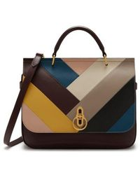 Mulberry - Amberley Colorblock Top Handle Bag - - Lyst