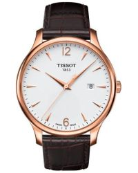 Tissot - Tradition Leather Strap Watch - Lyst