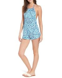 Obey - Silver Springs Halter Neck Romper - Lyst