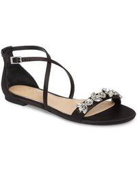 Badgley Mischka - Tessy Embellished Sandal - Lyst