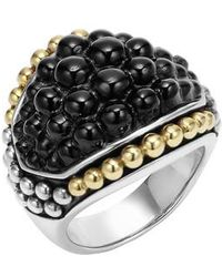 Lagos | 'black Caviar' Dome Ring | Lyst