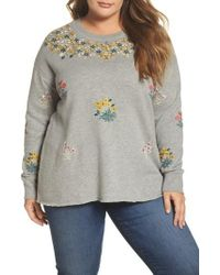 Lucky Brand - Embroidered Sweatshirt - Lyst