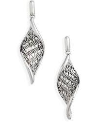 John Hardy - Classic Chain Wave Silver Drop Earrings - Lyst