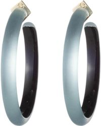 Alexis Bittar - Retro Gold Collection Large Lucite Hoop Earrings - Lyst