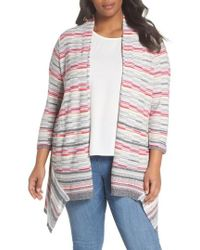 NIC+ZOE - Color Mix Open Cardigan - Lyst