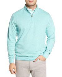 Peter Millar - Crown Comfort Jersey Quarter Zip Pullover - Lyst