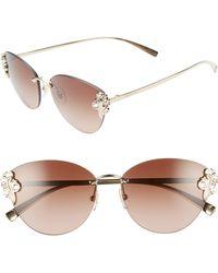 528660e4d9215 Lyst - Versace Tribute 147mm Shield Sunglasses - in Gray