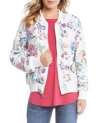 Karen Kane - Embroidered Floral Bomber Jacket - Lyst