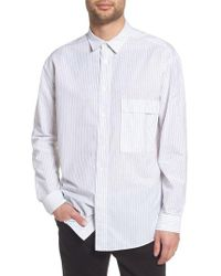HUGO - Ery Stripe Classic Fit Sport Shirt - Lyst