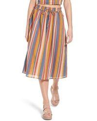 June & Hudson - Smocked Midi Skirt - Lyst