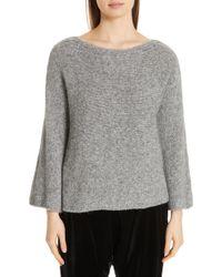 Eileen Fisher - Bell Sleeve Sweater - Lyst