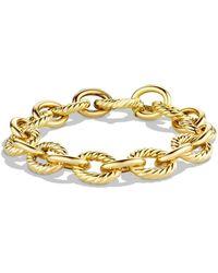 David Yurman 'oval' Large Link Bracelet In Gold