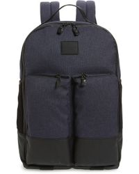 Lyst - Cole Haan Leather-trim Canvas Messenger Backpack in Black for Men 073fc09001bfe