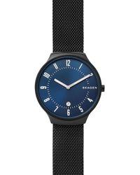 Skagen - Grenen Black Steel Mesh Men's Watch - Lyst