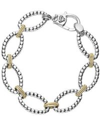Lagos - Two-tone Link Bracelet - Lyst